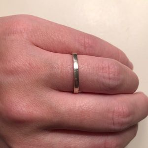 Simple silver band
